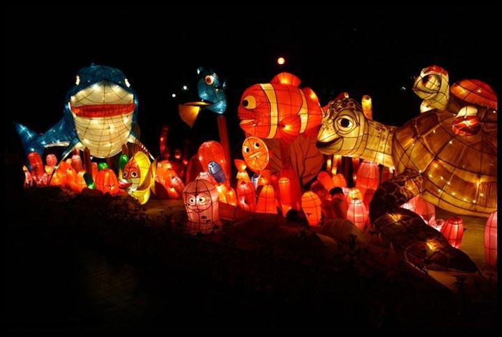 Wisata Malam Di Taman Pelangi Lampion